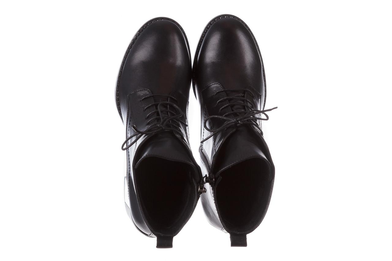 Botki bayla-195 20k-6508 black 195004, czarny, skóra naturalna  - sznurowane - botki - buty damskie - kobieta 16