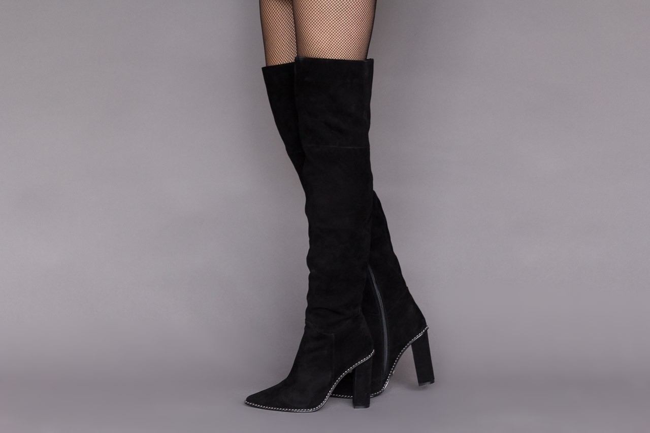 Kozaki sca'viola e-19 black suede, czarny, skóra naturalna - kozaki - buty damskie - kobieta 14