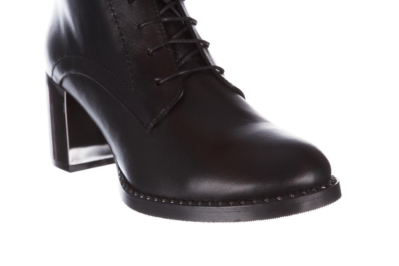 Botki bayla-195 20k-6508 black 195004, czarny, skóra naturalna  - sznurowane - botki - buty damskie - kobieta 17