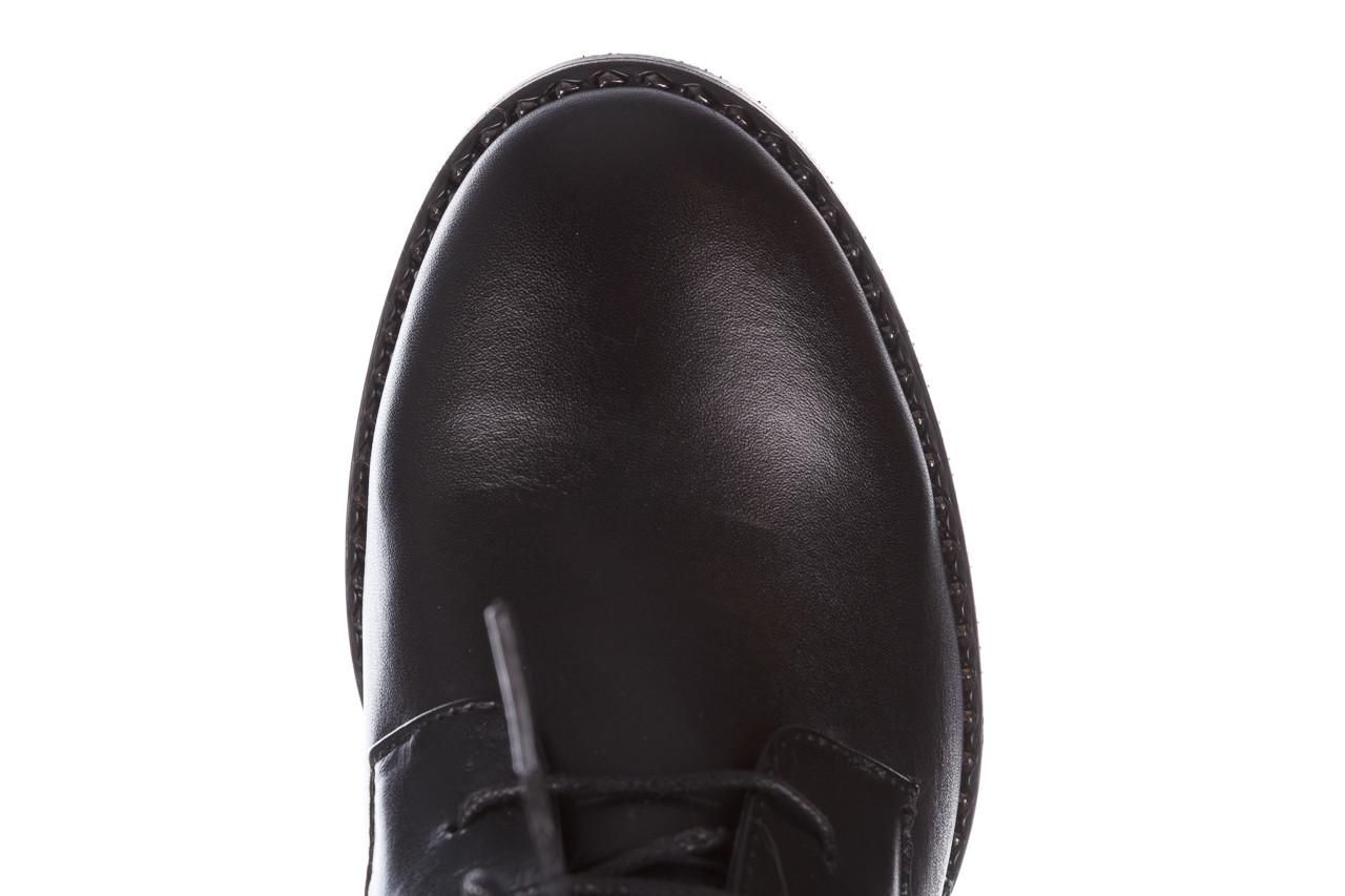 Botki bayla-195 20k-6508 black 195004, czarny, skóra naturalna  - sznurowane - botki - buty damskie - kobieta 18