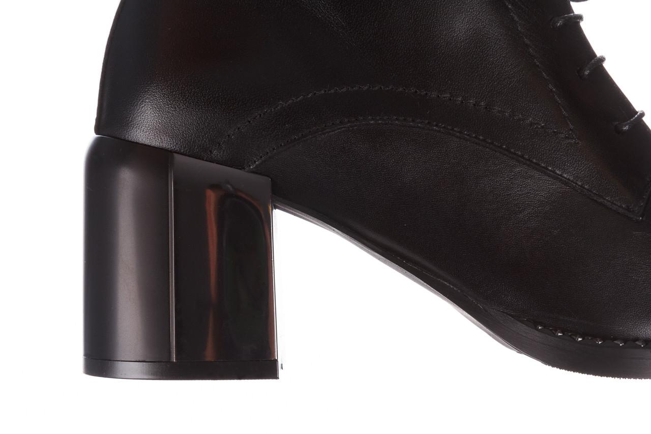 Botki bayla-195 20k-6508 black 195004, czarny, skóra naturalna  - sznurowane - botki - buty damskie - kobieta 19