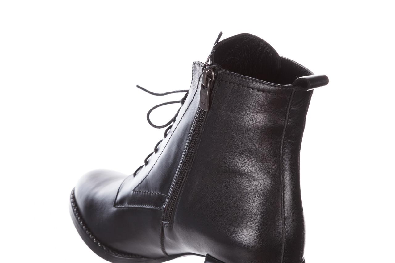 Botki bayla-195 20k-6508 black 195004, czarny, skóra naturalna  - sznurowane - botki - buty damskie - kobieta 20