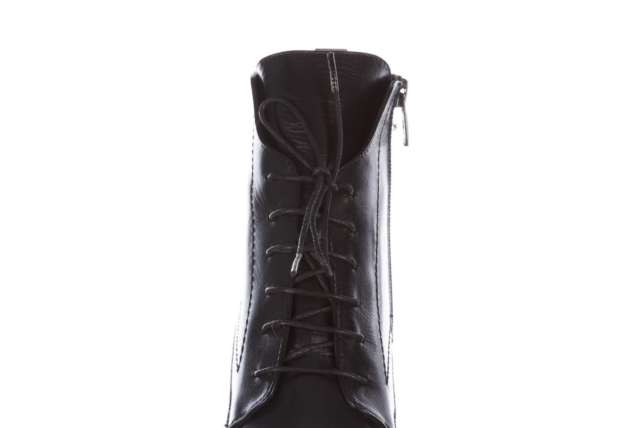 Botki bayla-195 20k-6508 black 195004, czarny, skóra naturalna  - sznurowane - botki - buty damskie - kobieta 21