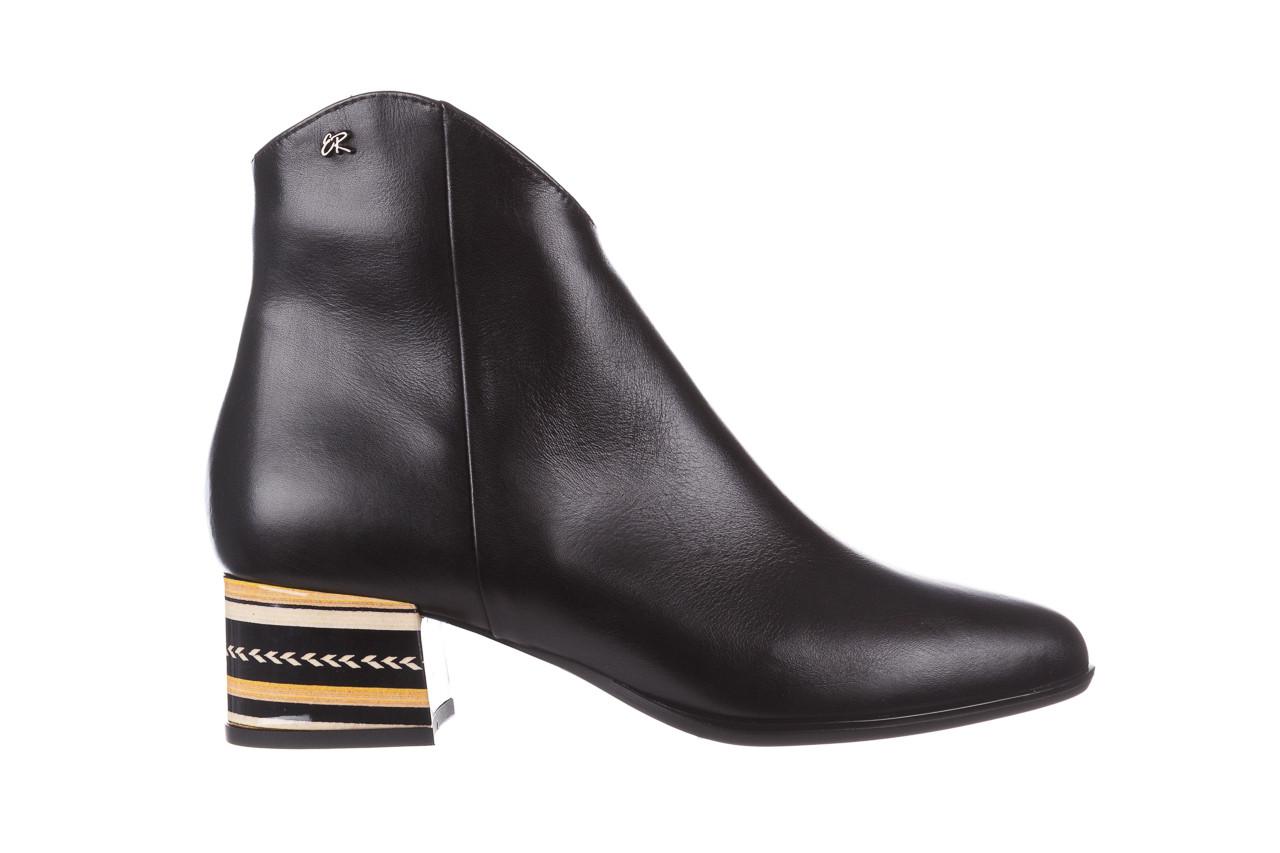 Botki bayla-056 9651-08 czarny 056519, skóra naturalna  - skórzane - botki - buty damskie - kobieta 10