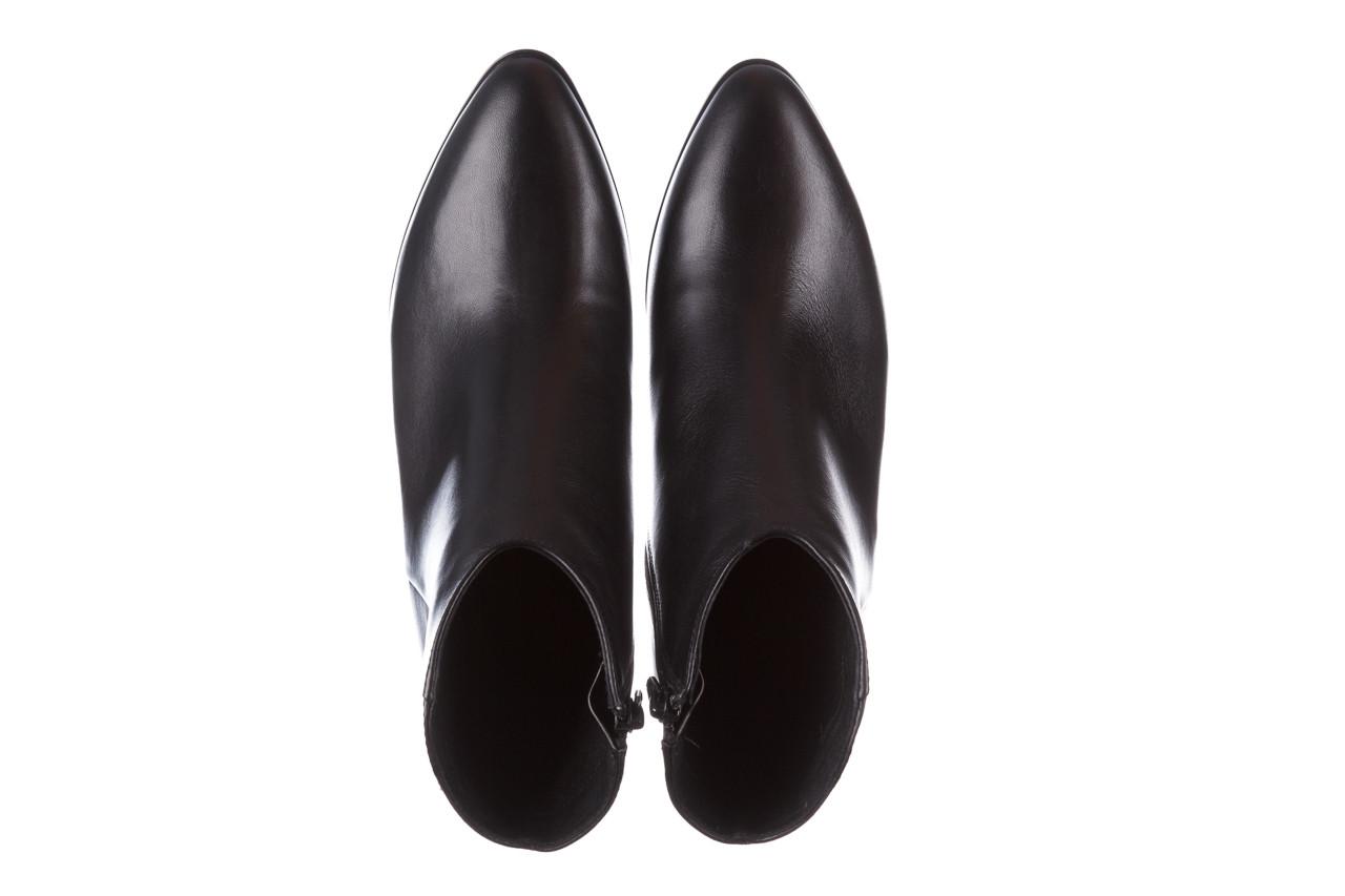 Botki bayla-056 9651-08 czarny 056519, skóra naturalna  - skórzane - botki - buty damskie - kobieta 15