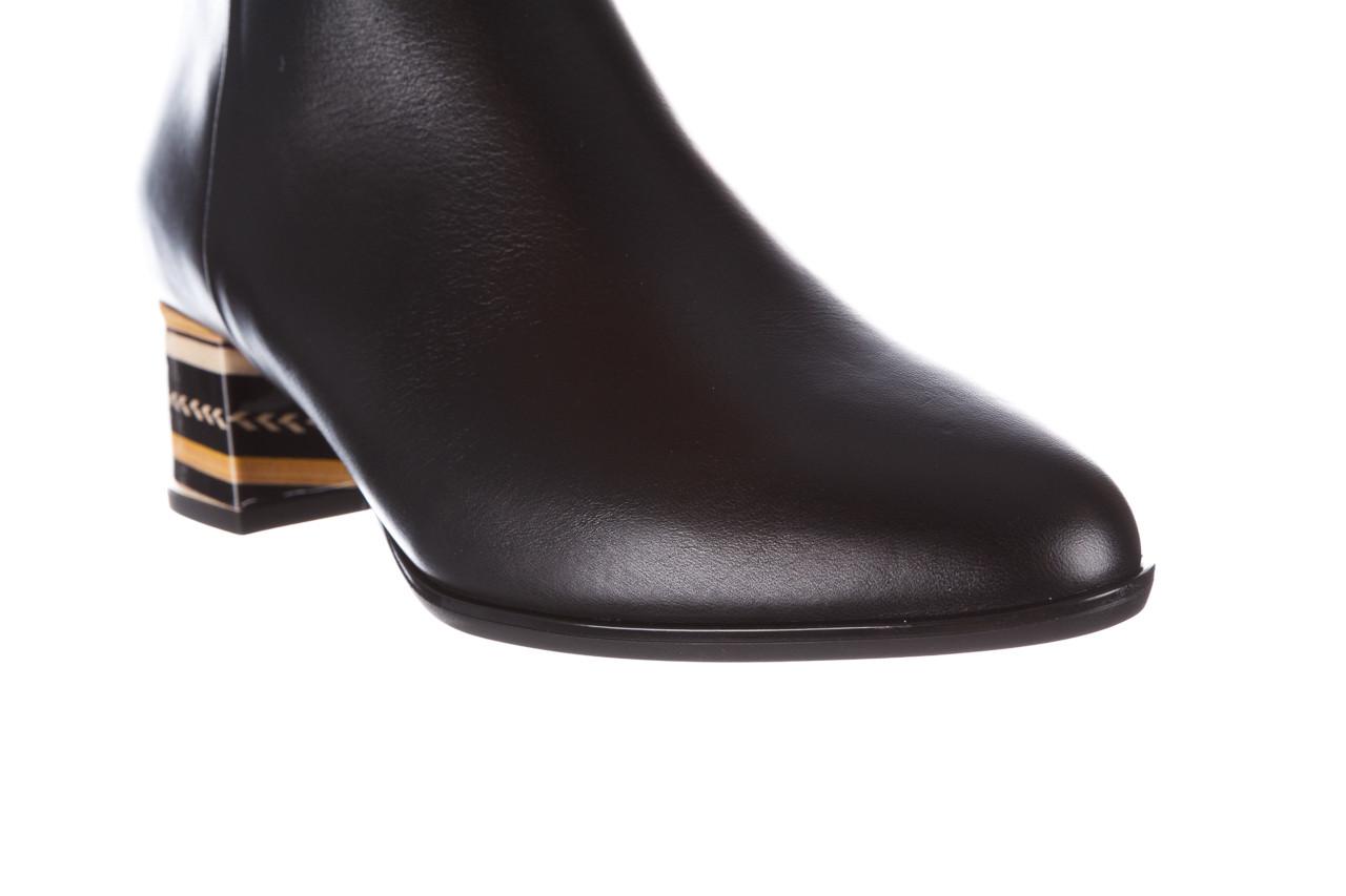 Botki bayla-056 9651-08 czarny 056519, skóra naturalna  - skórzane - botki - buty damskie - kobieta 16