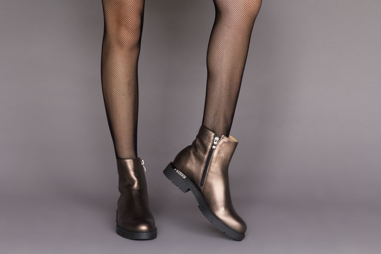 Trzewiki bayla-188 022 groszek brąz, skóra naturalna - trzewiki - buty damskie - kobieta 11
