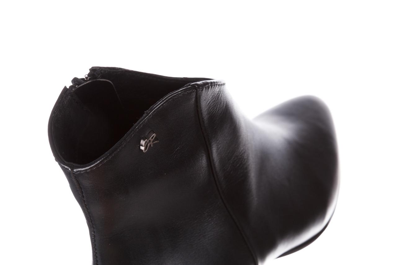 Botki bayla-056 9651-08 czarny 056519, skóra naturalna  - skórzane - botki - buty damskie - kobieta 17