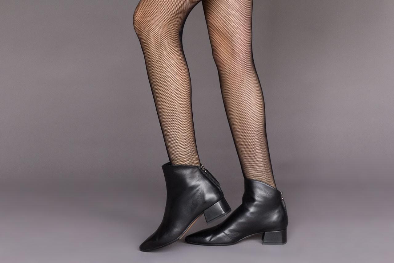 Botki bayla-188 004 czarny lico, skóra naturalna - skórzane - botki - buty damskie - kobieta 11