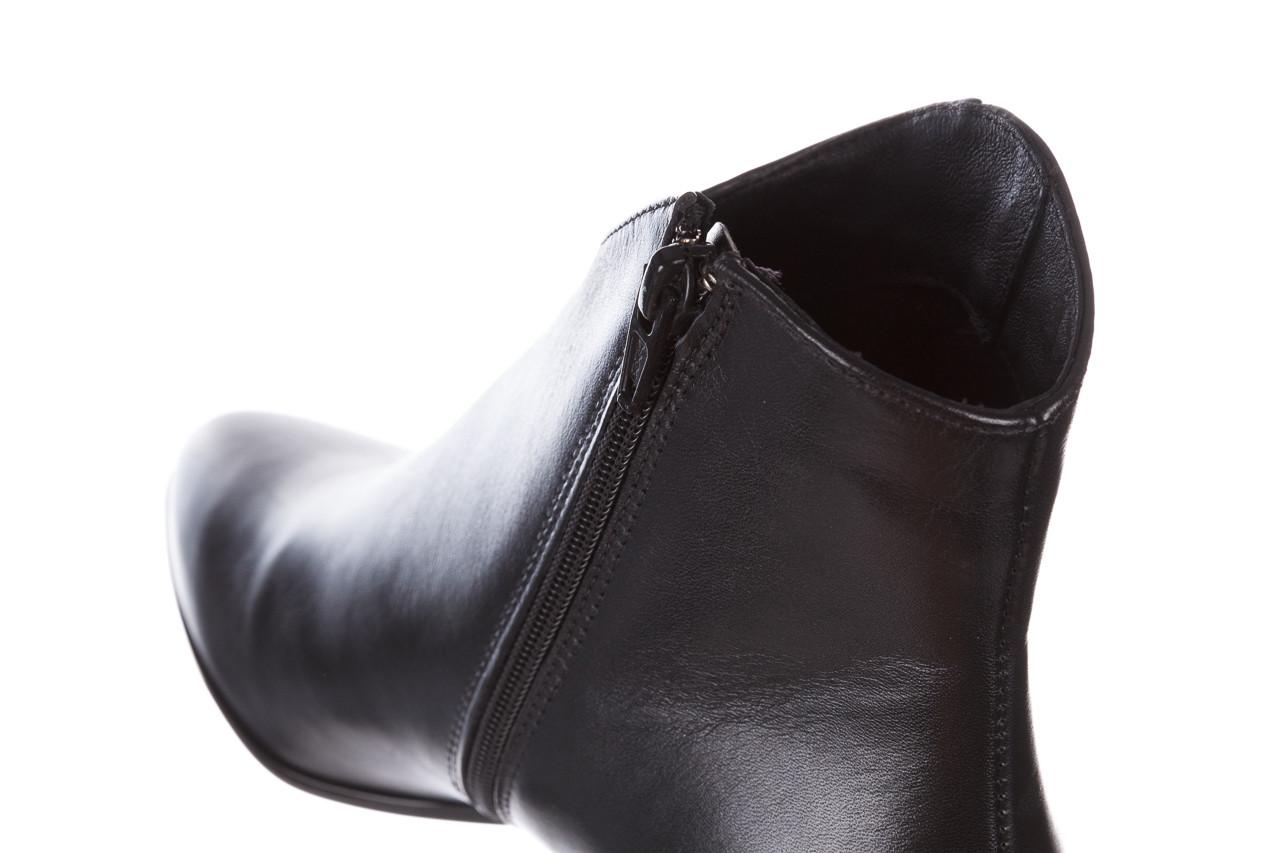 Botki bayla-056 9651-08 czarny 056519, skóra naturalna  - skórzane - botki - buty damskie - kobieta 19