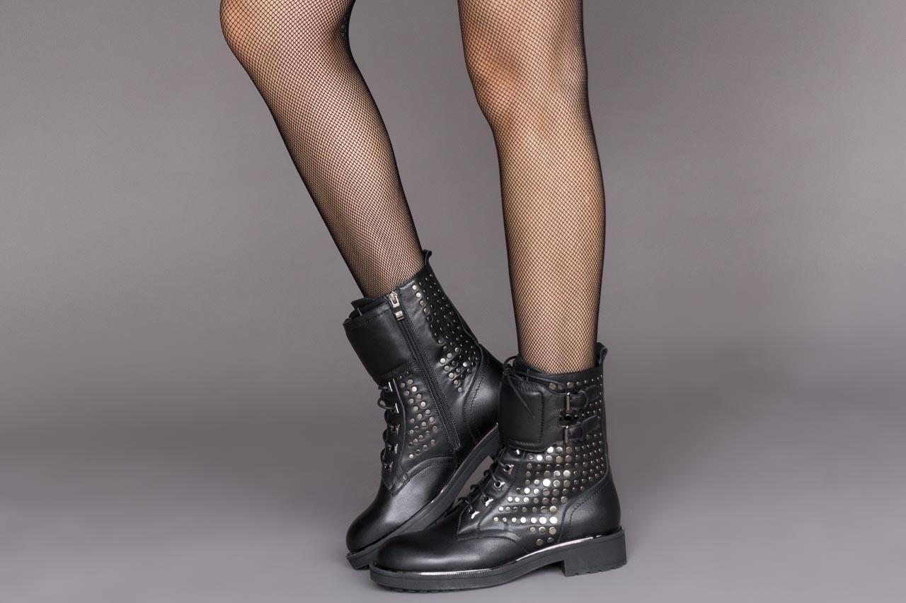 Trzewiki sca'viola p-35 black, czarny, skóra naturalna - trzewiki - buty damskie - kobieta 12