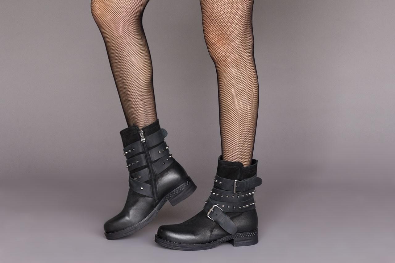Trzewiki bayla-161 050-2341 black, czarny, skóra naturalna  - trzewiki - buty damskie - kobieta 14