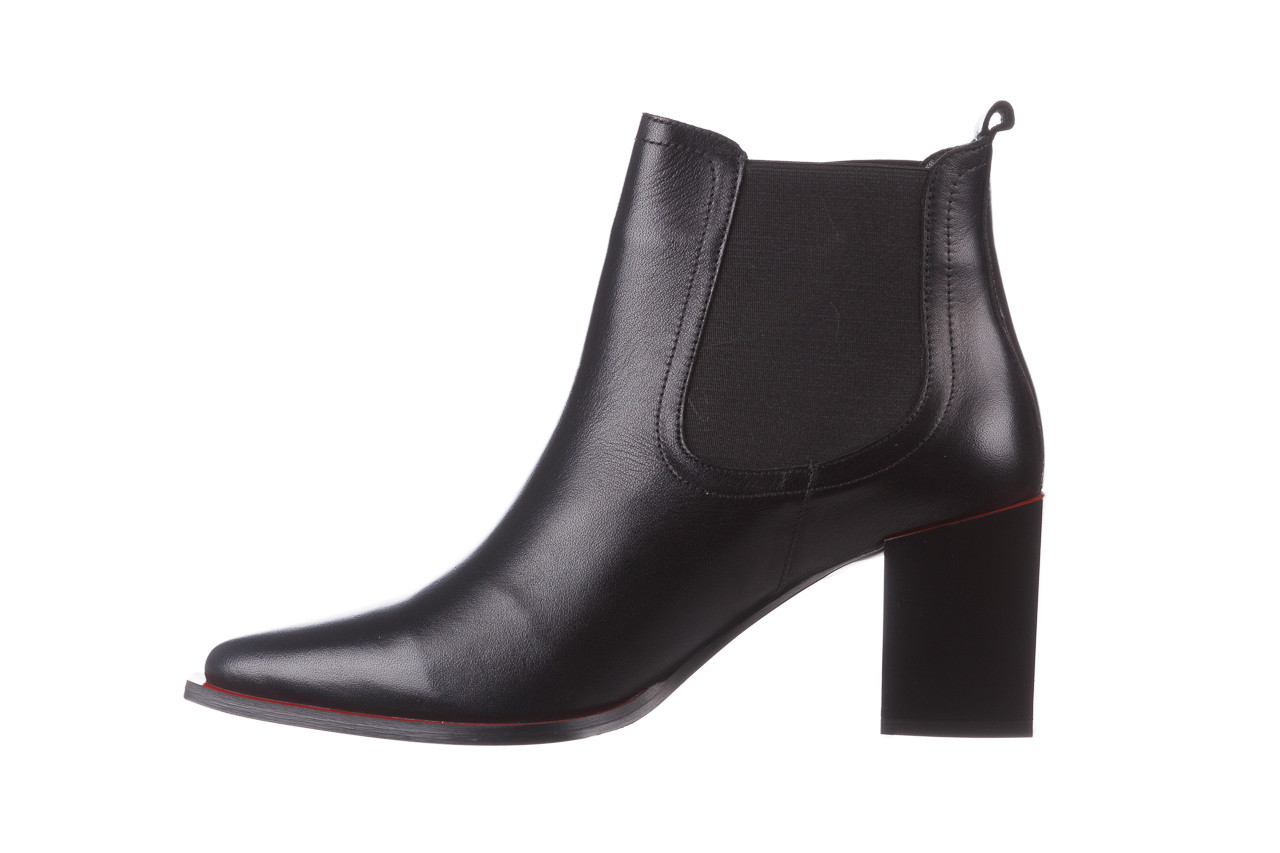 Botki bayla-195 20k-7200 black 195012, czarny, skóra naturalna  - skórzane - botki - buty damskie - kobieta 14