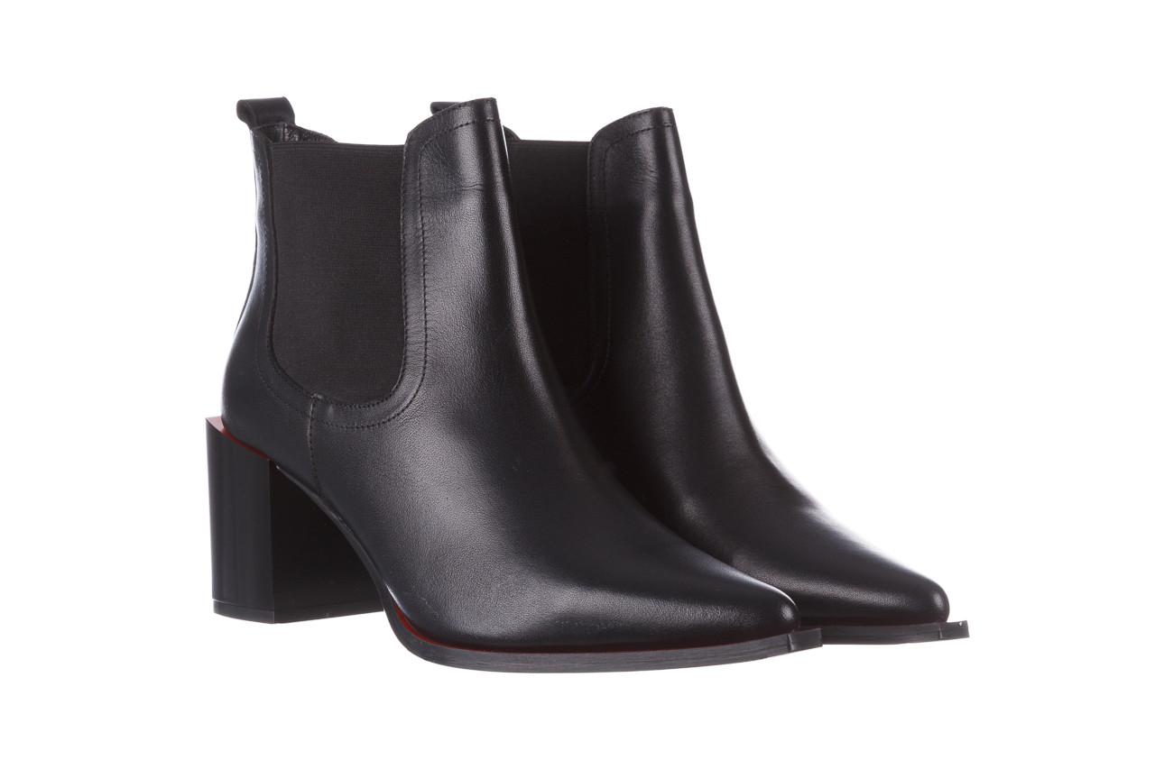 Botki bayla-195 20k-7200 black 195012, czarny, skóra naturalna  - skórzane - botki - buty damskie - kobieta 12