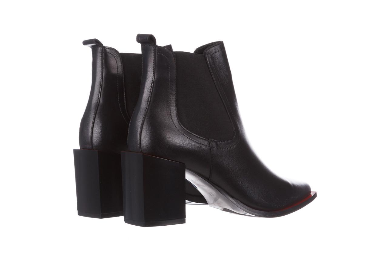 Botki bayla-195 20k-7200 black 195012, czarny, skóra naturalna  - skórzane - botki - buty damskie - kobieta 15