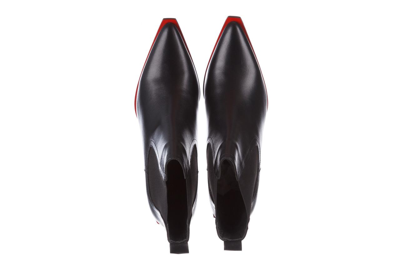 Botki bayla-195 20k-7200 black 195012, czarny, skóra naturalna  - skórzane - botki - buty damskie - kobieta 16