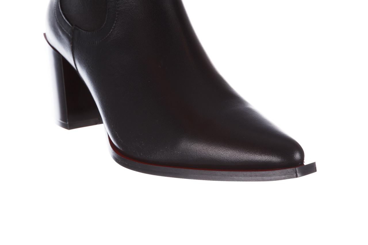 Botki bayla-195 20k-7200 black 195012, czarny, skóra naturalna  - skórzane - botki - buty damskie - kobieta 17