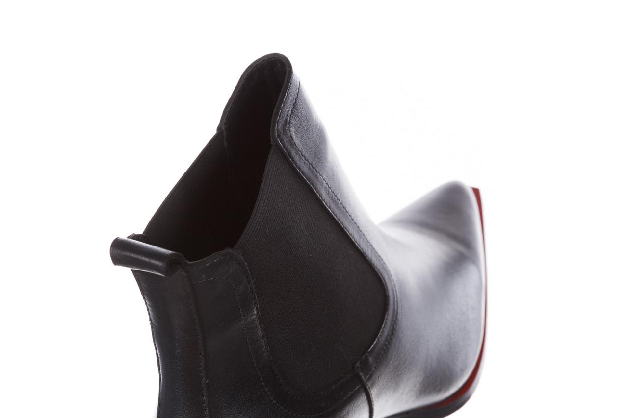 Botki bayla-195 20k-7200 black 195012, czarny, skóra naturalna  - skórzane - botki - buty damskie - kobieta 20