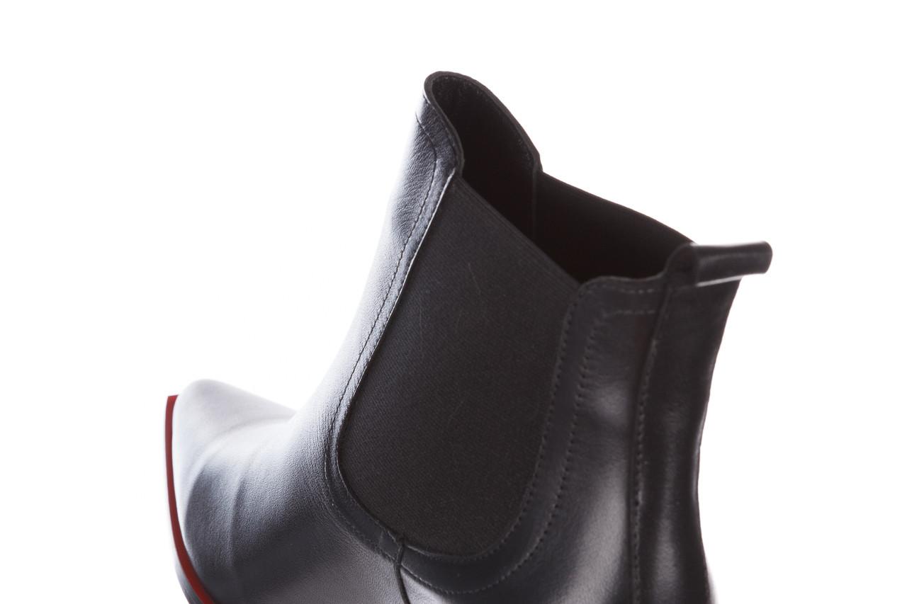 Botki bayla-195 20k-7200 black 195012, czarny, skóra naturalna  - skórzane - botki - buty damskie - kobieta 18