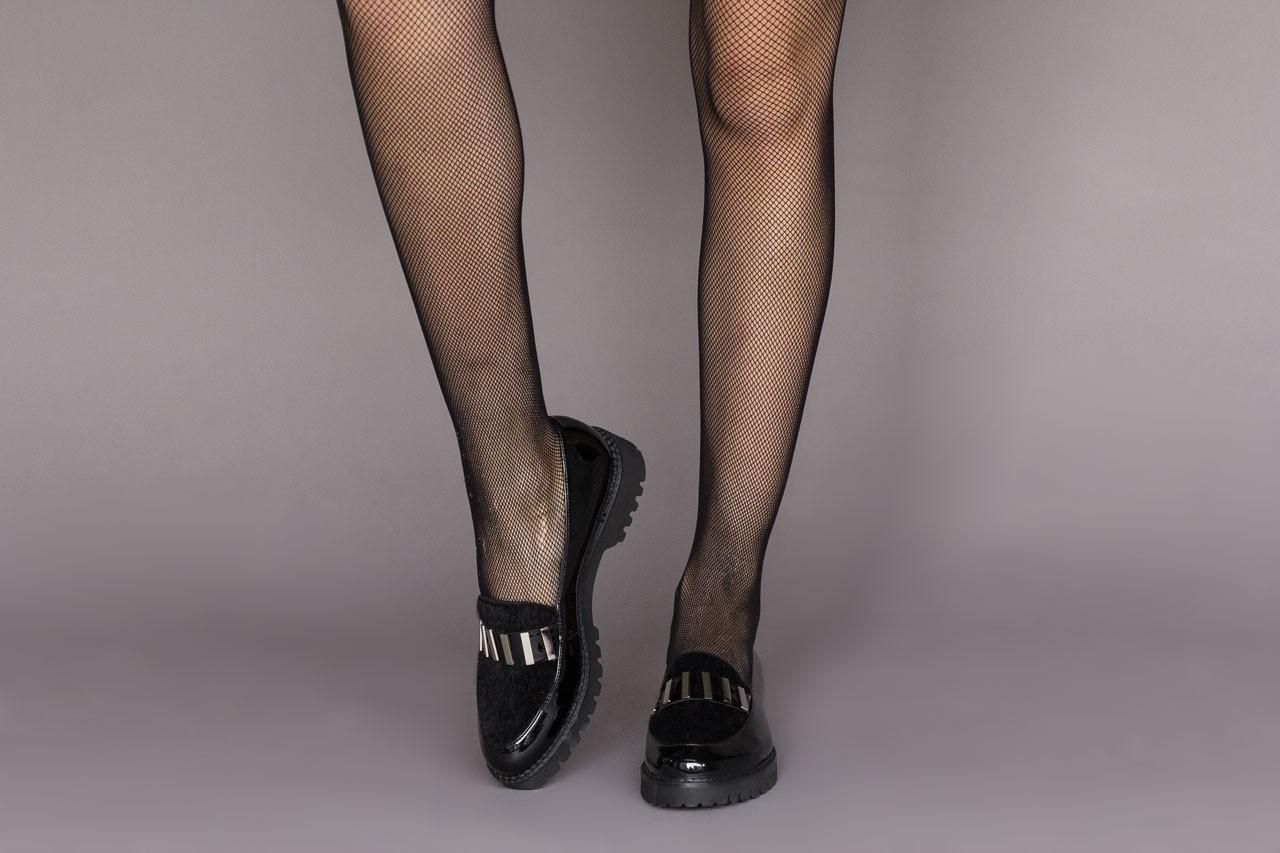 Półbuty bayla-157 b023-126-p czarny, skóra naturalna lakierowana - półbuty - buty damskie - kobieta 10