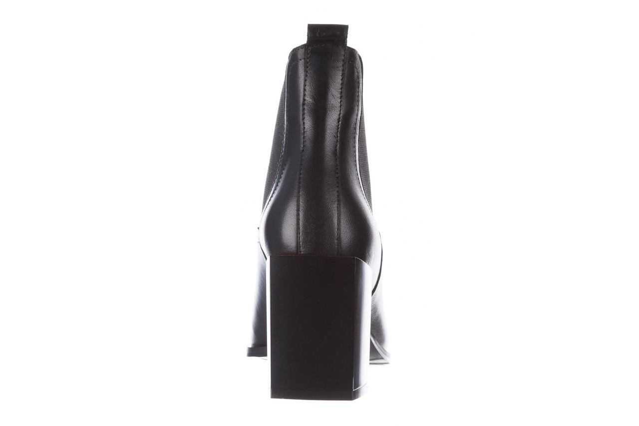 Botki bayla-195 20k-7200 black 195012, czarny, skóra naturalna  - skórzane - botki - buty damskie - kobieta 21