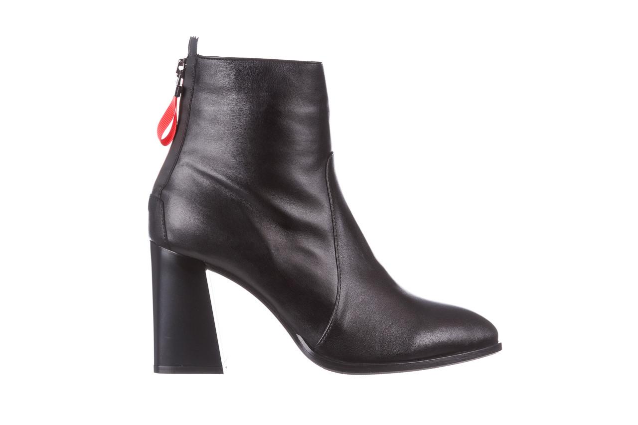 Botki bayla-195 20k-7001 black 195021, czarny, skóra naturalna  - skórzane - botki - buty damskie - kobieta 10
