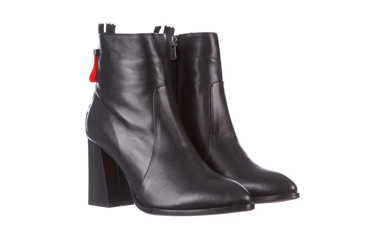 Botki bayla-195 20k-7001 black 195021, czarny, skóra naturalna  - skórzane - botki - buty damskie - kobieta 11