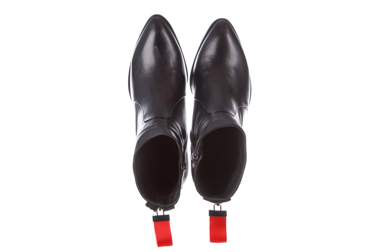 Botki bayla-195 20k-7001 black 195021, czarny, skóra naturalna  - skórzane - botki - buty damskie - kobieta 15