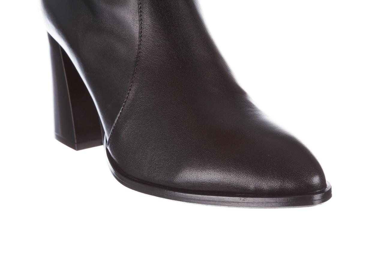 Botki bayla-195 20k-7001 black 195021, czarny, skóra naturalna  - skórzane - botki - buty damskie - kobieta 17