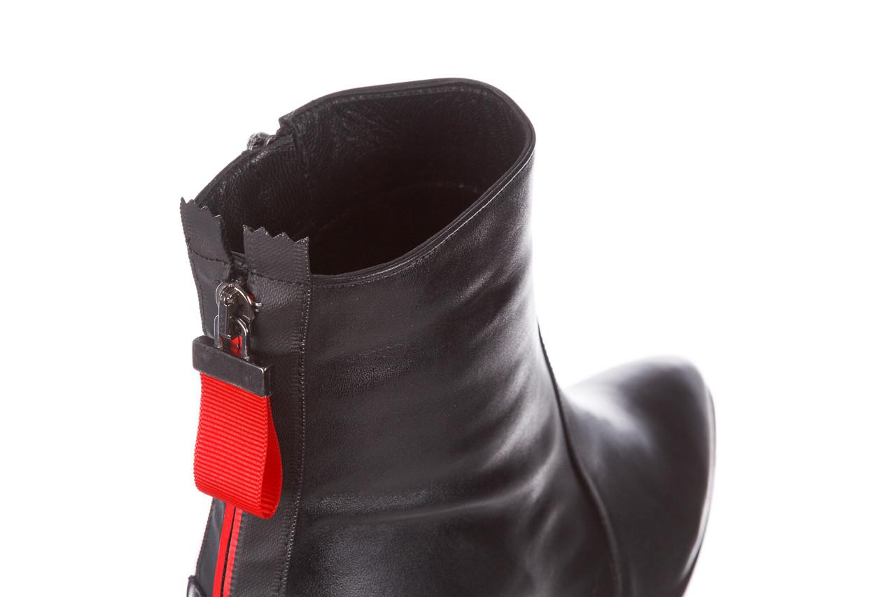 Botki bayla-195 20k-7001 black 195021, czarny, skóra naturalna  - skórzane - botki - buty damskie - kobieta 16