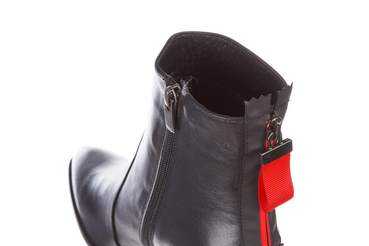 Botki bayla-195 20k-7001 black 195021, czarny, skóra naturalna  - skórzane - botki - buty damskie - kobieta 18