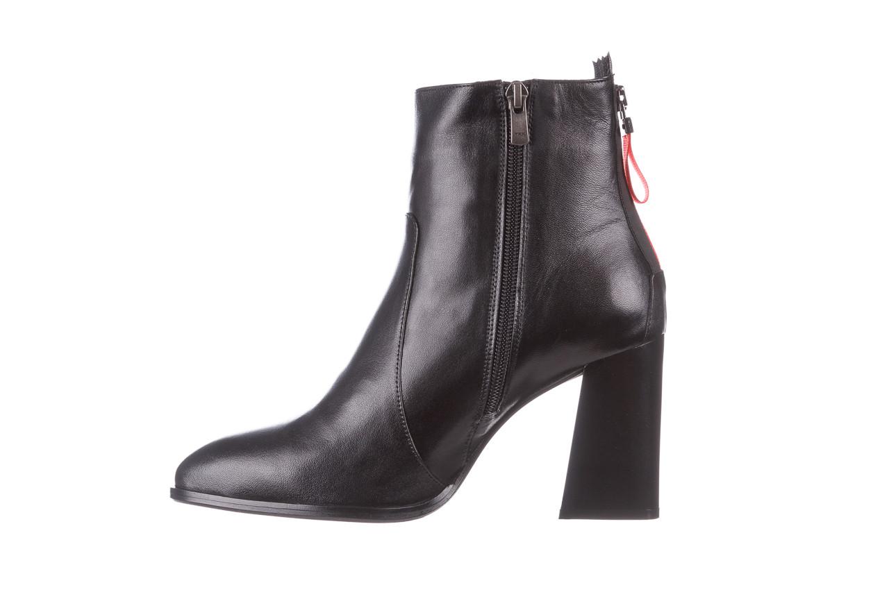 Botki bayla-195 20k-7001 black 195021, czarny, skóra naturalna  - skórzane - botki - buty damskie - kobieta 13