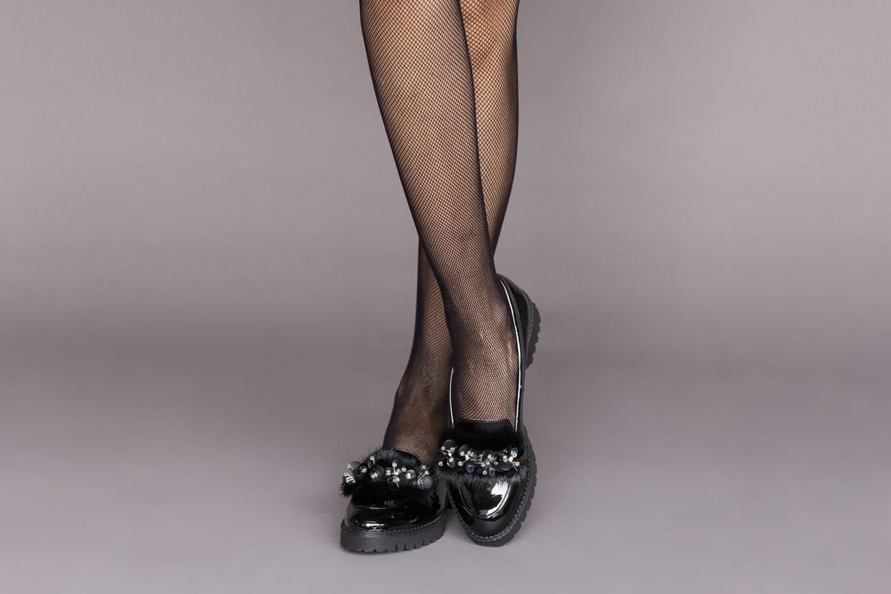 Półbuty bayla-157 b019-090-p czarny 157024, skóra naturalna lakierowana  - półbuty - buty damskie - kobieta 12