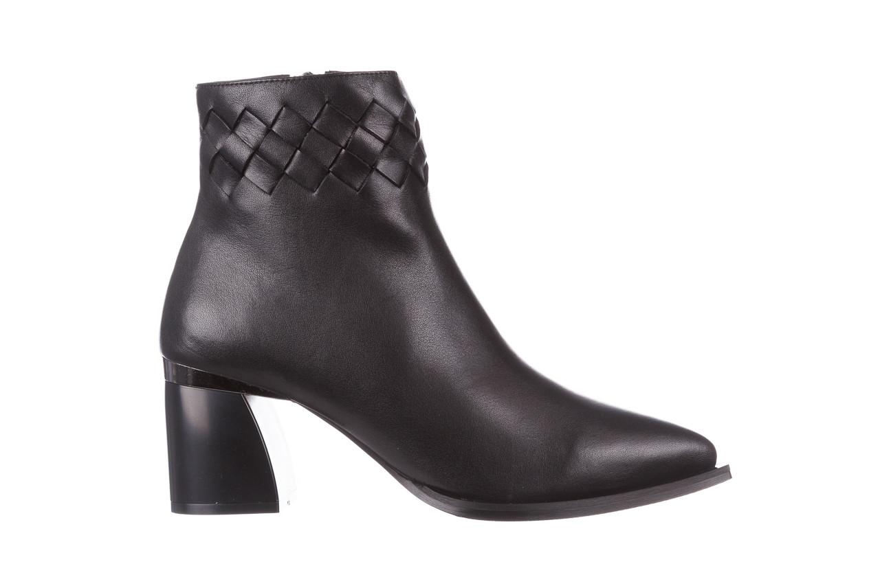 Botki bayla-195 20k-6811 black 195005, czarny, skóra naturalna  - skórzane - botki - buty damskie - kobieta 11