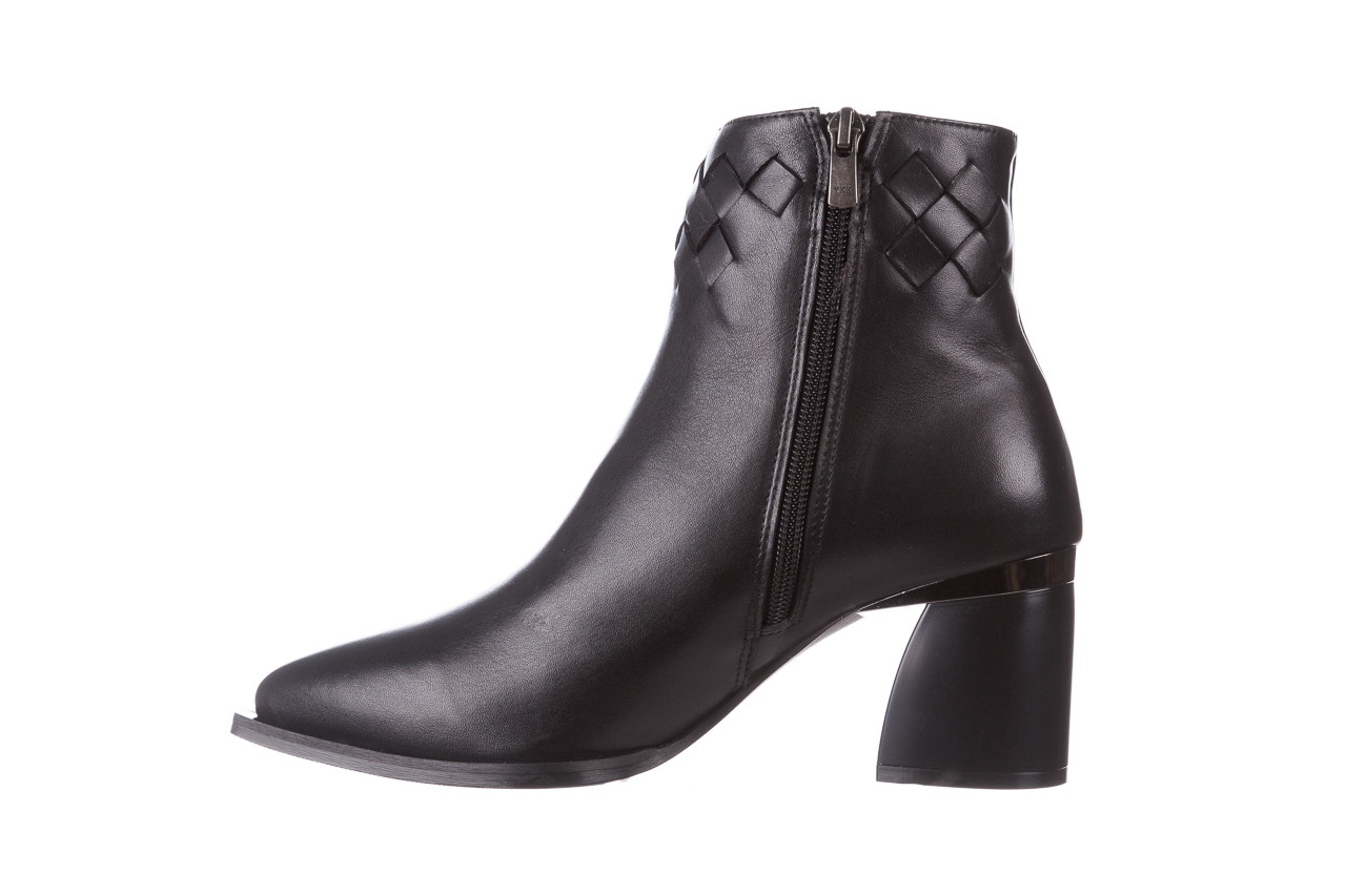 Botki bayla-195 20k-6811 black 195005, czarny, skóra naturalna  - skórzane - botki - buty damskie - kobieta 14