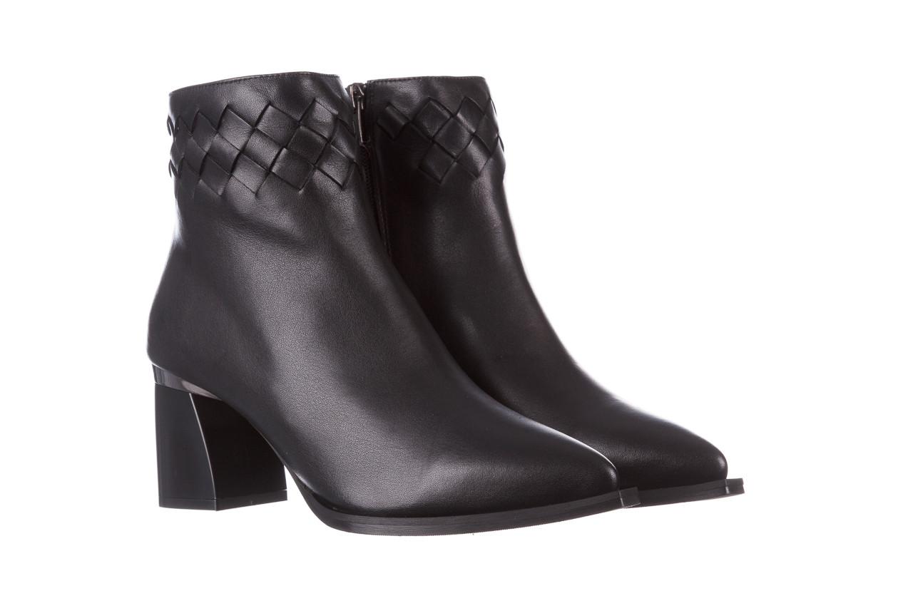 Botki bayla-195 20k-6811 black 195005, czarny, skóra naturalna  - skórzane - botki - buty damskie - kobieta 12