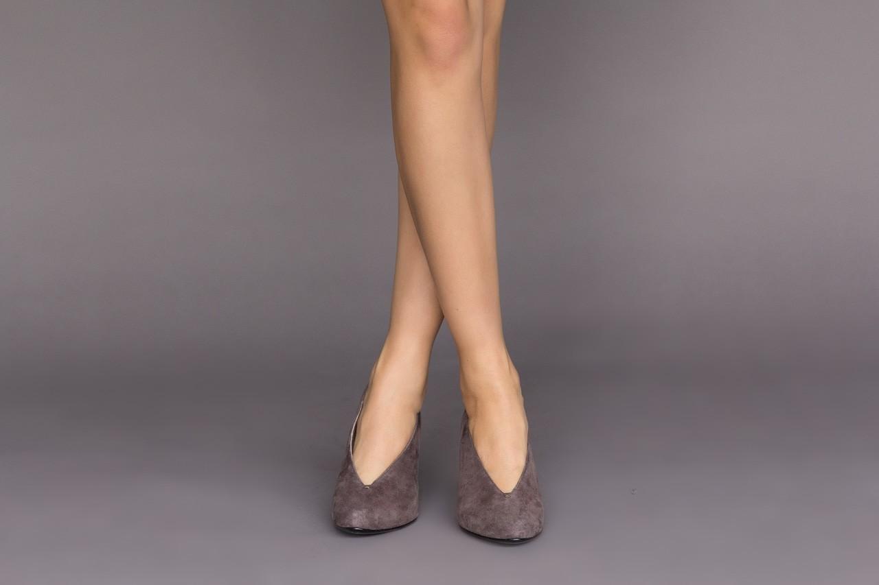 Czółenka bayla-056 9147-1462 szary, skóra naturalna  - zamszowe - czółenka - buty damskie - kobieta 10