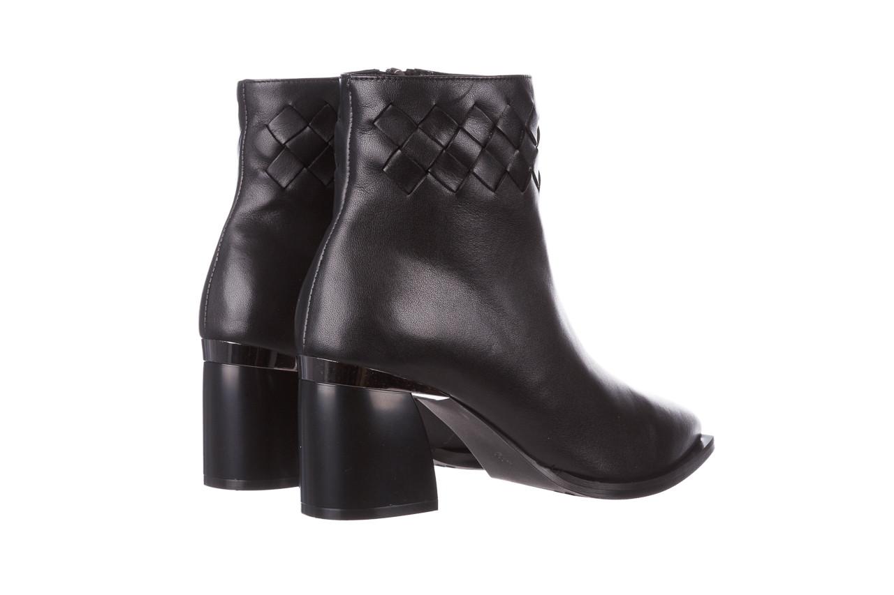 Botki bayla-195 20k-6811 black 195005, czarny, skóra naturalna  - skórzane - botki - buty damskie - kobieta 15