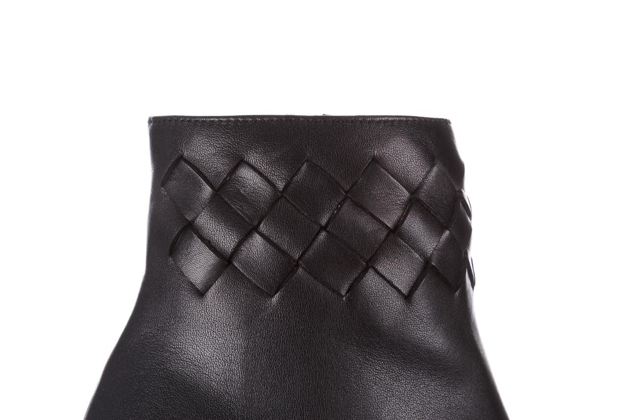 Botki bayla-195 20k-6811 black 195005, czarny, skóra naturalna  - skórzane - botki - buty damskie - kobieta 17