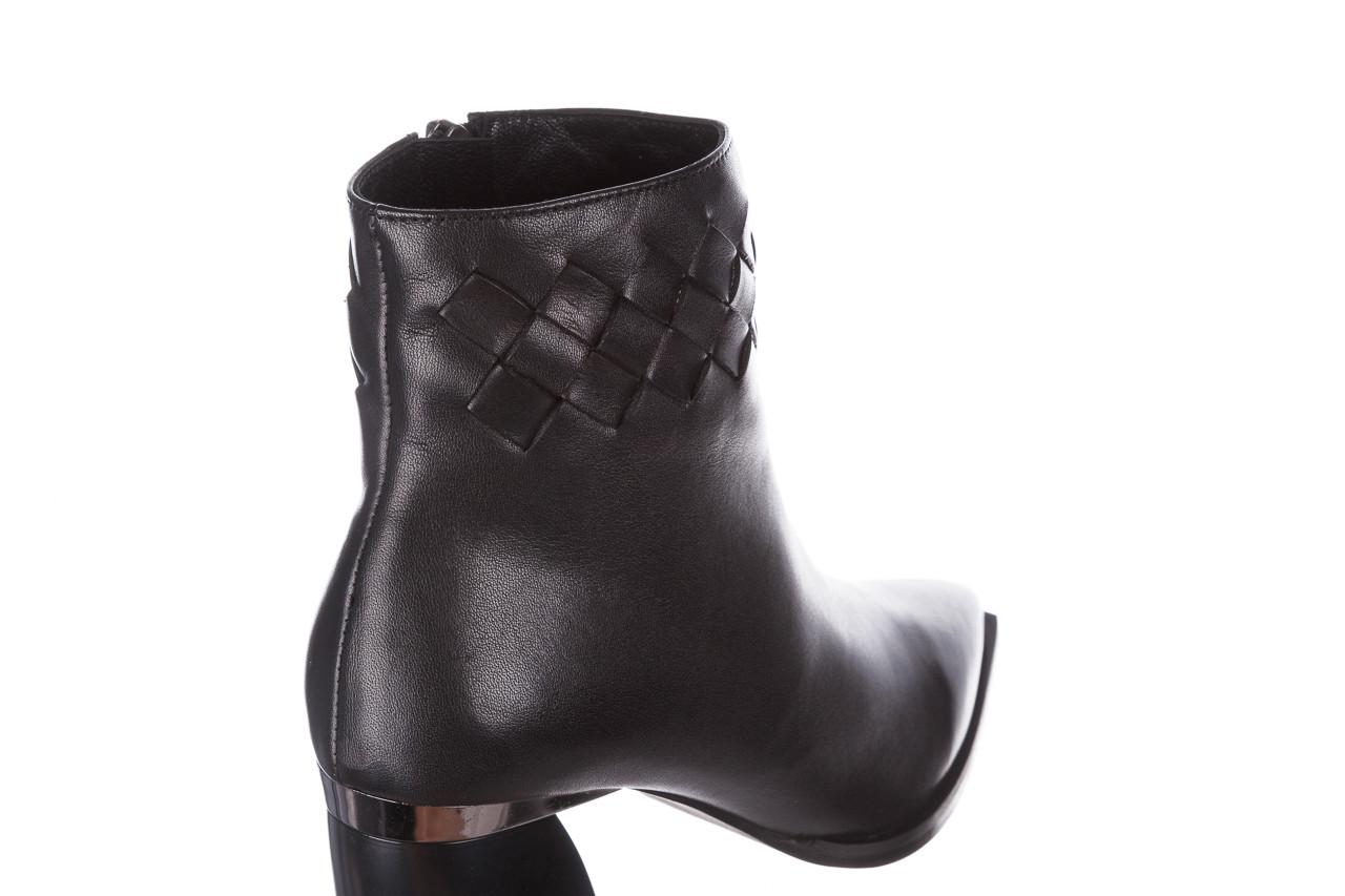 Botki bayla-195 20k-6811 black 195005, czarny, skóra naturalna  - skórzane - botki - buty damskie - kobieta 18