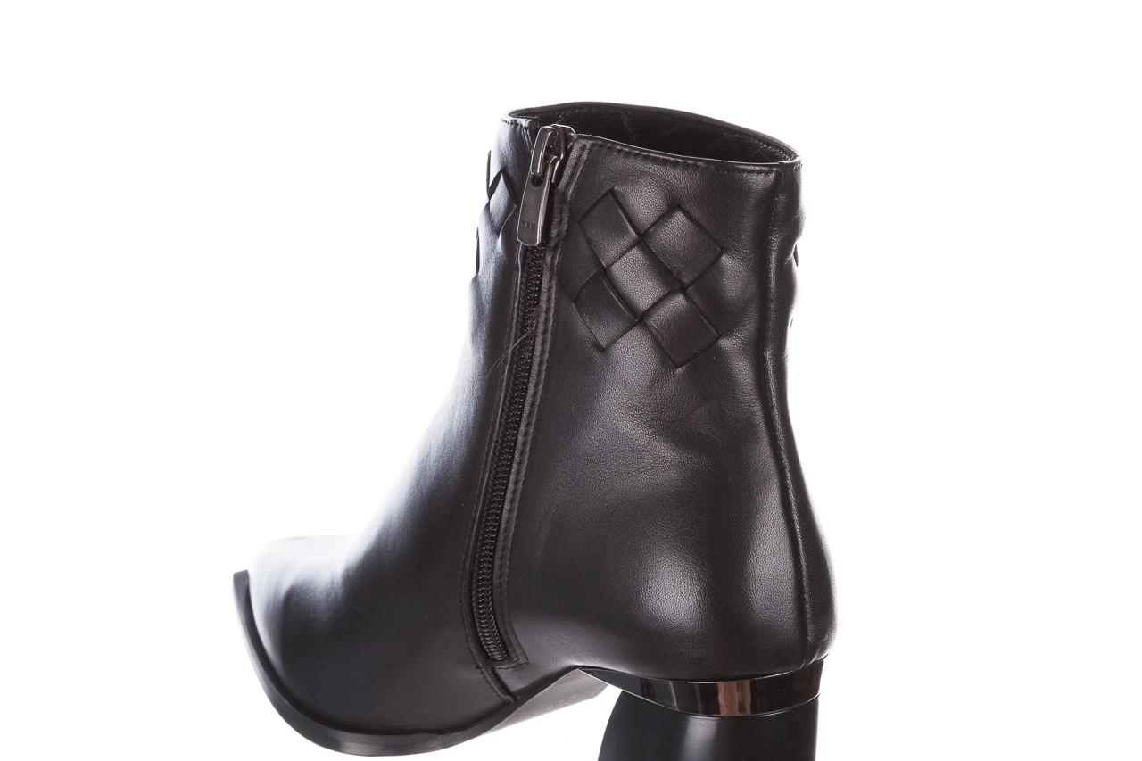 Botki bayla-195 20k-6811 black 195005, czarny, skóra naturalna  - skórzane - botki - buty damskie - kobieta 19