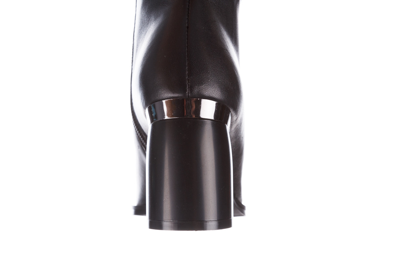 Botki bayla-195 20k-6811 black 195005, czarny, skóra naturalna  - skórzane - botki - buty damskie - kobieta 20