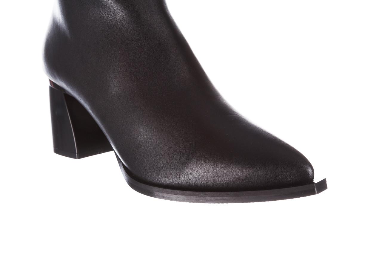 Botki bayla-195 20k-6811 black 195005, czarny, skóra naturalna  - skórzane - botki - buty damskie - kobieta 21