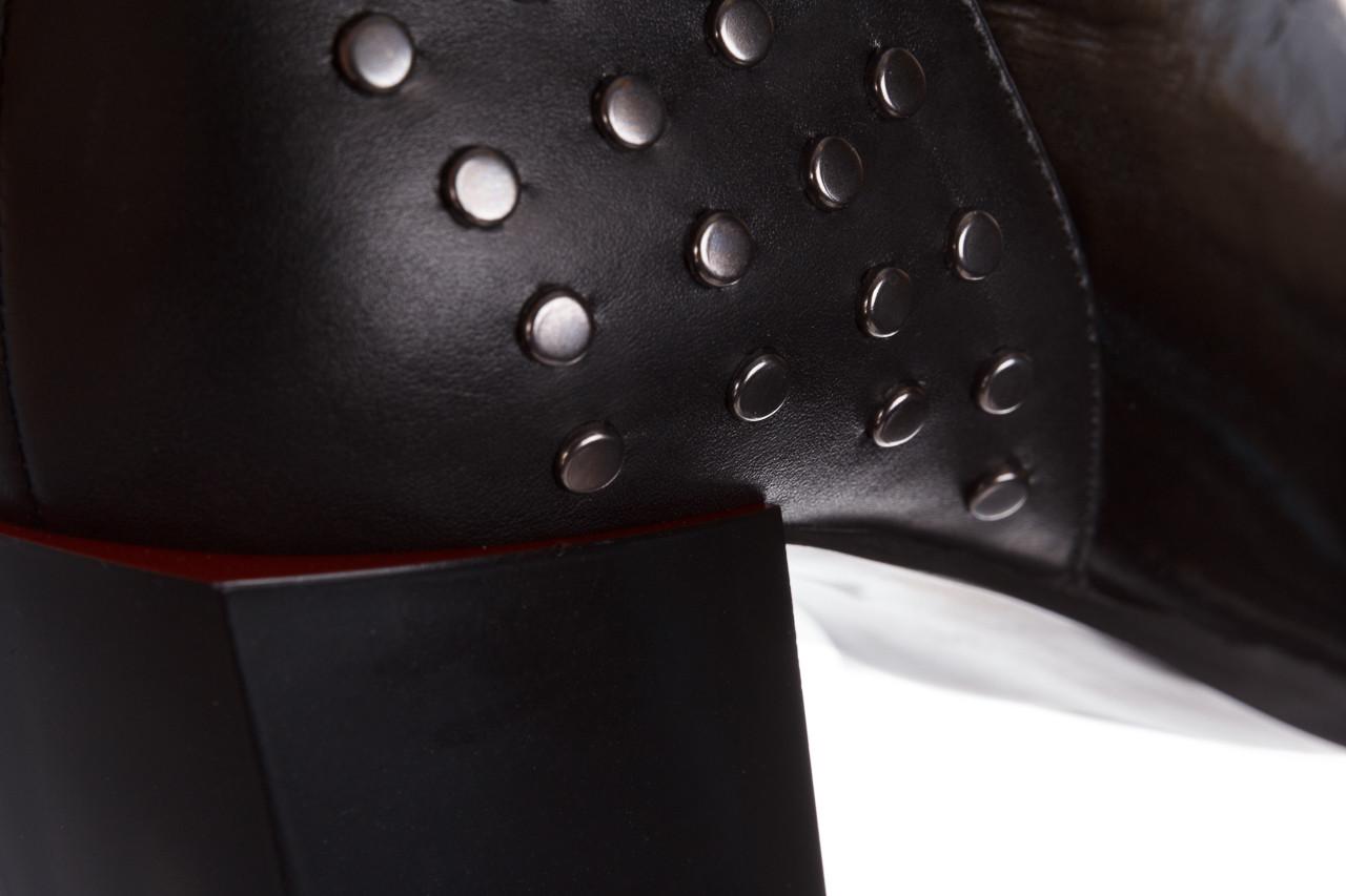 Botki bayla-195 20k-7205 black 195015, czarny, skóra naturalna  - botki i trzewiki - dla niej  - sale 23
