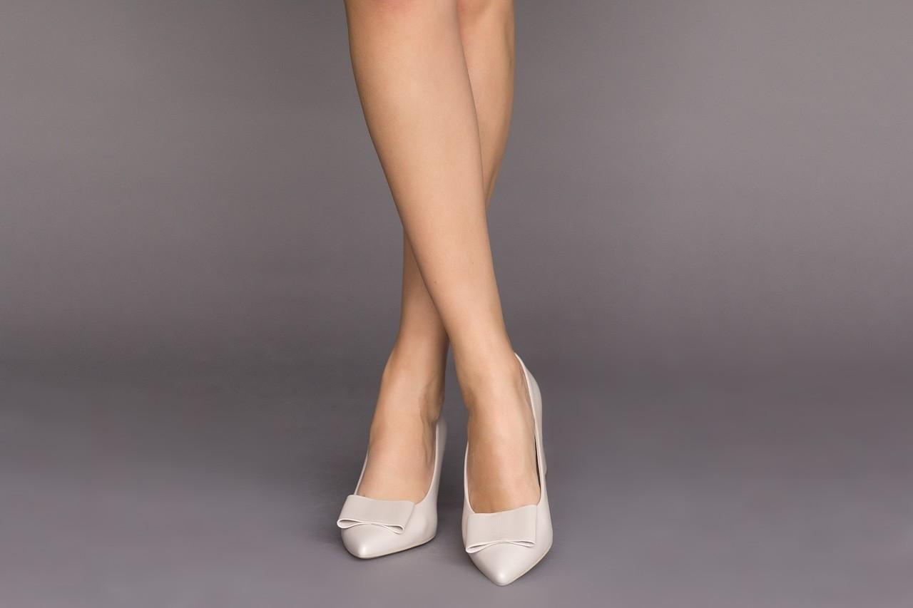 Czółenka bayla-056 9404-1459 beż perła, skóra naturalna  - skórzane - czółenka - buty damskie - kobieta 10