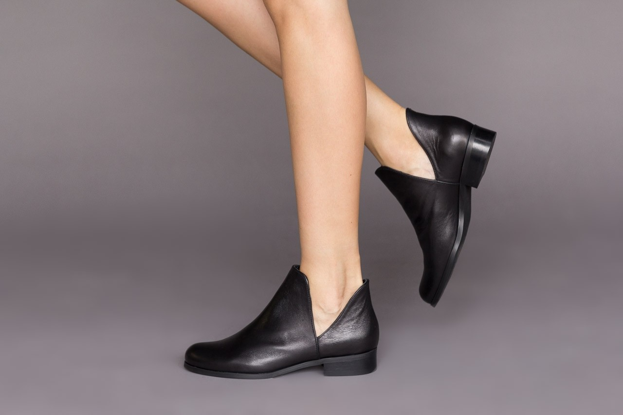 Botki bayla-157 b028-008-p beż, skóra naturalna - sztyblety - botki - buty damskie - kobieta 10