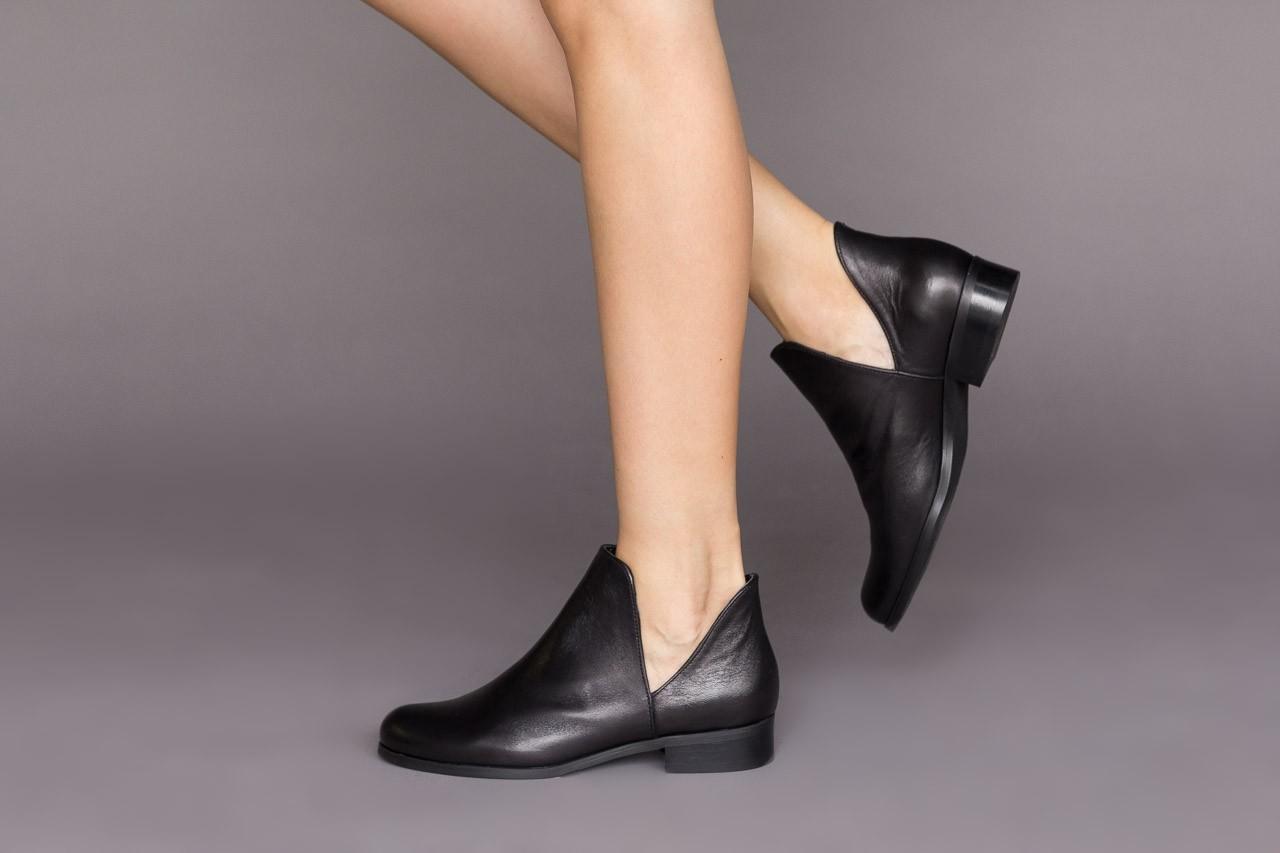 Botki bayla-157 b028-126-p czarny, skóra naturalna - zamszowe - botki - buty damskie - kobieta 10