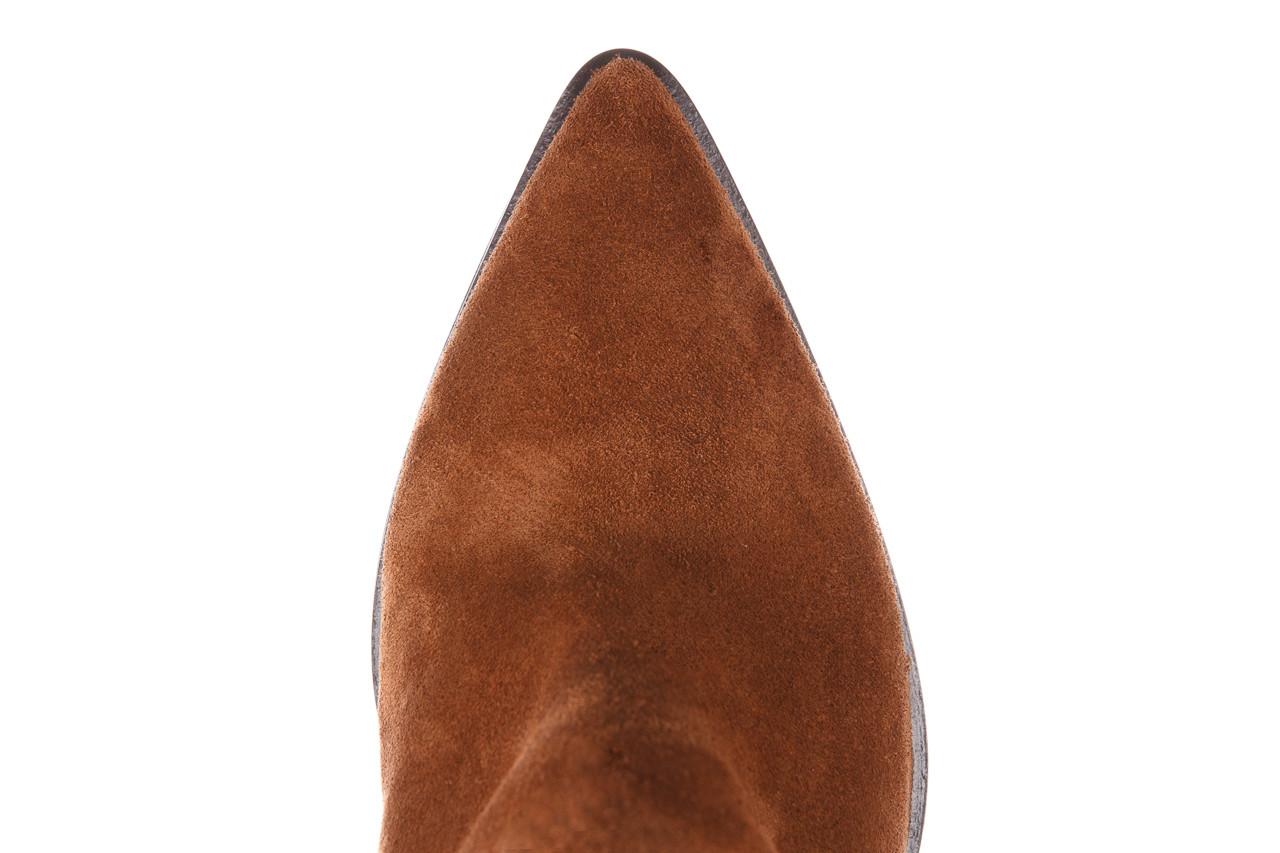 Botki bayla-195 oz-7337 chestnut suede 195018, brąz, skóra naturalna 21