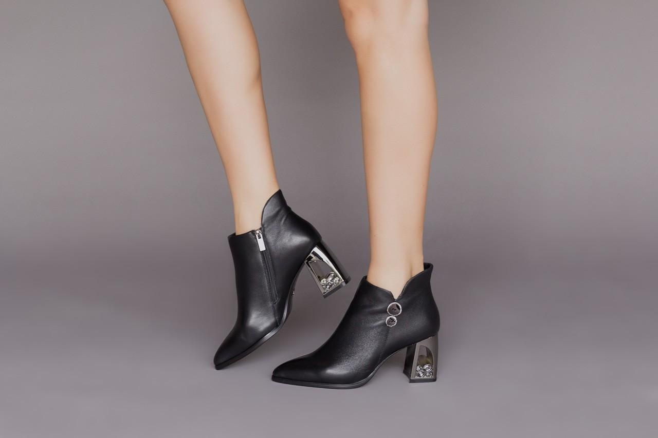 Botki sca'viola f-173 black leather, czarny, skóra naturalna - skórzane - botki - buty damskie - kobieta 12