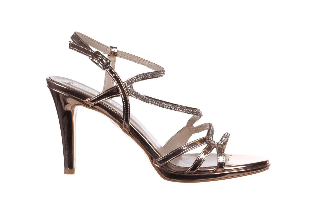 Sandały bayla-187 587-531 róż, skóra ekologiczna  - na obcasie - sandały - buty damskie - kobieta 7